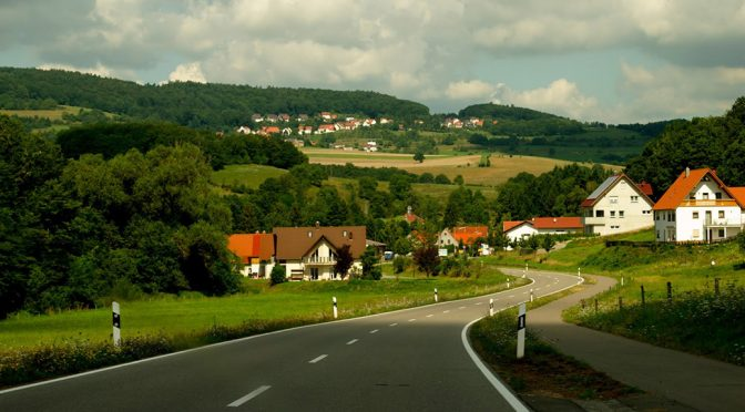 road through small German town